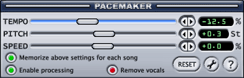 PaceMaker main window